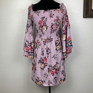 Francesca's Collections Smocked Floral Dress